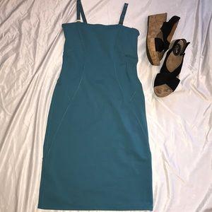 Athleta NWOT Reposh teal fitted dress
